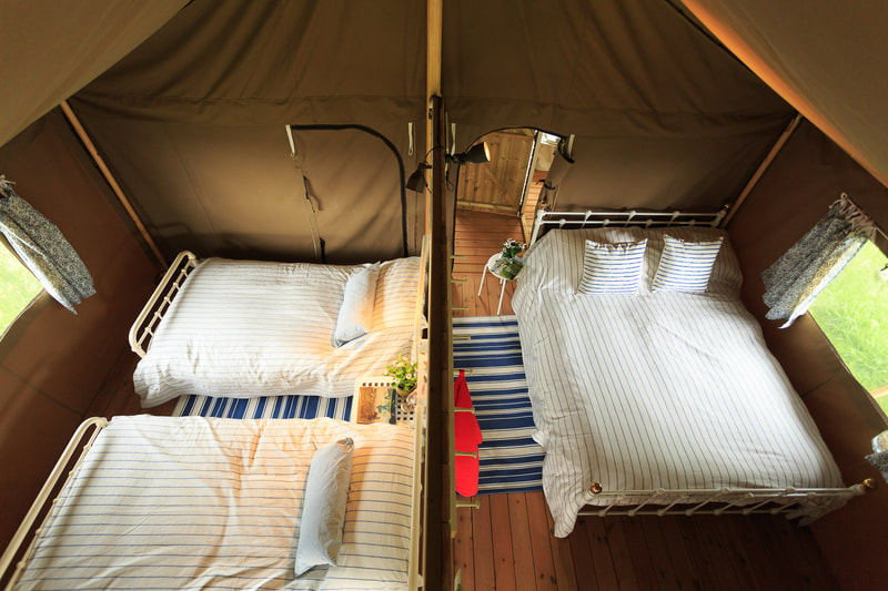 safari tent bedrooms