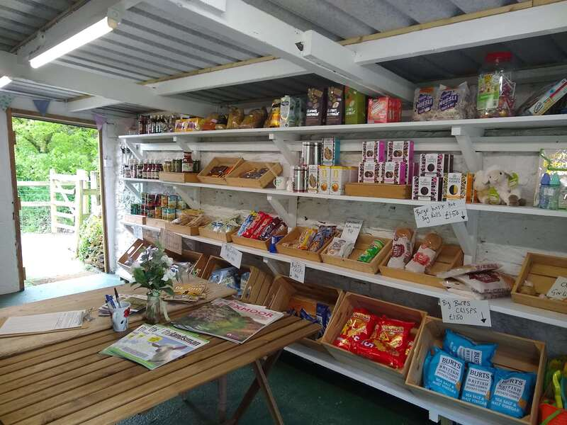 Glamping site shop for guests