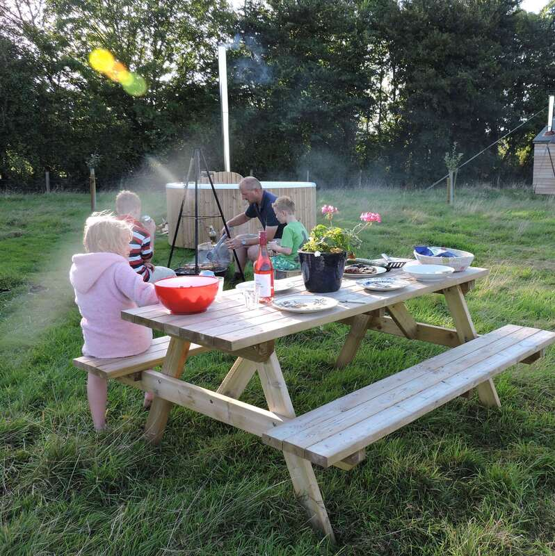 Child friendly glamping holiday Somerset