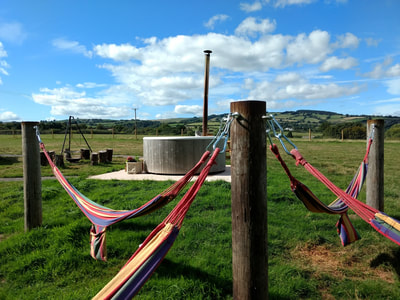 glamping with hot tubs in somerset Devon.  glamping weekends, hen weekends, glamping in Somerset