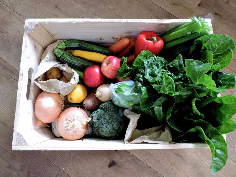 Fresh fruit & veg boxes for glamping guests